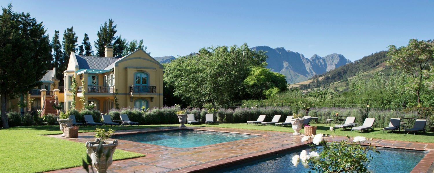 Franschhoek Country House grounds and pools